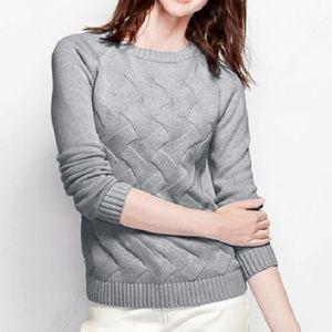 Lands End Drifter Texture Crewneck Sweater XLP